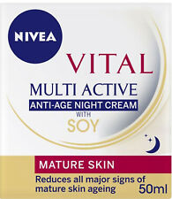 Nivea Vital Multi Active Anti-Age Night Cream with SOY 50ml for MATURE / DRY