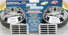 1 Wolo 325-2T Maxi Sound Chrome Universal Dual Tone Horn 12-Volt 115 Decibels
