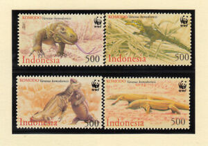 Indonesia, 2000 WWF Komodo fragon set of 4 stamps. MUH. SG 2620-2623.Going cheap