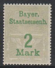 Bavière - 2m Gris (Chemin de Fer Tax Fiscal) Tampon - MNH
