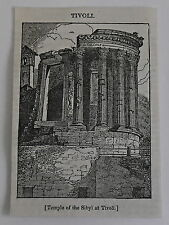 small 1832 magazine engraving ~ TEMPLE OF THE SIBYL AT TIVOLI, Poland