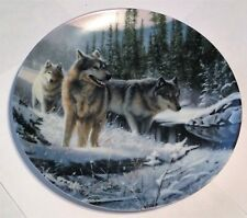 Wolf, Knowles Collector Plate, Call Of The Wilderness Series, Winter Travelers
