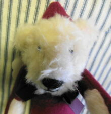 NOS Bearly There Christmas Bear Jointed 1983 Tags