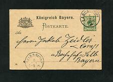 Bayern - Ganzsache aus Landau vom 05.08.1895  (EB-3)