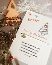 Teacher gift christmas wish bracelet - Thank you - Holidays - Gift - Pesent