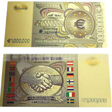 New Euro 1000000 24K Gold Banknote Color Bill World Money Collection