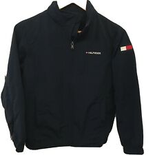 Tommy Hilfiger boys navy blue jacket with concealed hood Size M (Age 8-10)