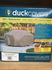 Duck Covers Elite Square Patio Table & Chair Set Cover 76-Inch