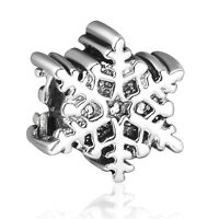 Winter Snow Shape Silver Bead Special Cute Gift Fit 925 Sterling Charm Bracelet
