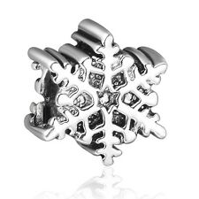 Snow Style Fine Silver Bead Girl Charm Holiday Jewelry Fit 925 Sterling Bracelet