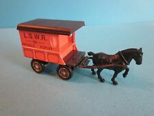 Lledo Days Gone. Horse Drawn Van. LSWR Parcel Ropley Livery. No Box