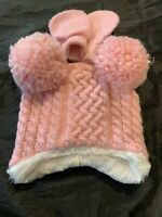 Girls Knit Pink Cable Pom Pom Hat & Glove Set - Cat & Jack - NEWBORN #r4