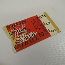 Wisconsin Badgers vs Michigan Vtg Ticket Stub 1968 Basketball Game Field House