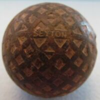 VINTAGE GOLF BALL WITH UNUSUAL COVER DESIGN OF SQUARES & TRIANGLES-SEYTON