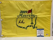 SIGNED GOLF MASTERS FLAG WINNER GARY PLAYER BSA BECKETT RARE HOF
