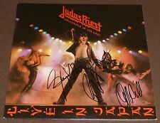 JUDAS PRIEST SIGNED by 3 UNLEASHED IN THE EAST LIVE IN JAPAN RECORD ALBUM LP