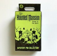 DISNEY HAUNTED MANSION GLOW IN THE DARK MYSTERY PIN COLLECTION (2 PINS IN BOX)