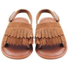 Summer Baby Girls Kids Sandals Tassel Anti-Slip Crib Shoes Soft Sole Hot Sale