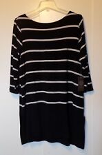 Wmn's VINCE CAMUTO Tunic Top Blouse Plus Sz 1X Black & White Stretchy  NWT