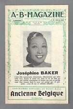 L' Ancienne Belgique JOSEPHINE BAKER / Georges Guetary 1944 Brussels Program
