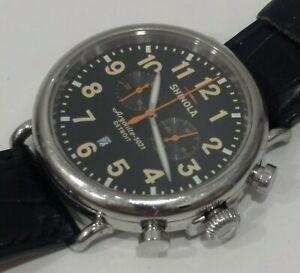 Shinola runwell 47mm chrono mens watch