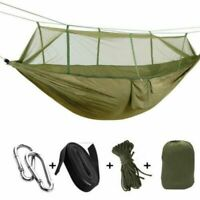 Dual Camping Hammock Mosquito Net Nylon Tent Folding Travel Hanging Bed Outdoor