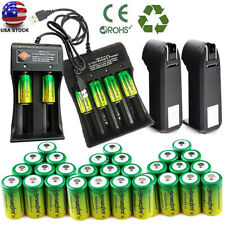 Lots Rechargeable 3.7V CR123A Batteries Lithium for Netgear Arlo Security Camera