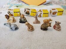 Wade Figurines lot of 8 Lion elephant tiger Hippo fox England Animals Vintage