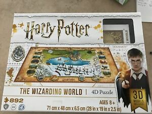 """4D Puzzle Harry Potter The Wizarding World 28"""" x 9"""" x 2.5"""" Item 1192494 Ages 8+"""