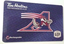 French Tim hortons Montreal Allouettes gift card zero balance