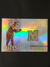 Fred Lindstrom 2002 Topps Tribute Milestone Materials Relic card
