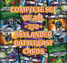 Full Complete set of All 270 Skylanders Battlecast Cards