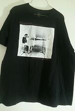 John Lennon T Shirt Imagine all the People Living Life in Peace Black Front Z24