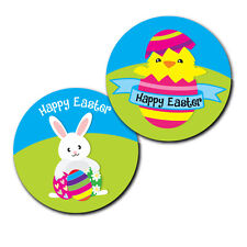 Happy Easter Stickers - 30mm - 'egg design' crafts and cardmaking - 144 in pack