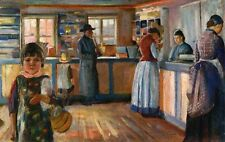 Edvard Munch Lithograph Print Matted At The General Store In Vrengen