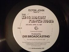 Rare Elton John King Biscuit Flower Hour LP s 4/19/87 Part II NM Rare Cue Sheets