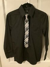 Boys dress shirt and tie set, size 10-12