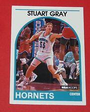 #352 STUART GRAY CHARLOTTE HORNETS 1989 NBA HOOPS BASKETBALL CARD