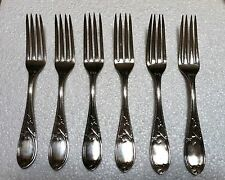 Set of Six N. Harding & Co. Boston Mass. Coin Silver Forks Circa 1850 - 1870