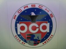 Official Porsche PCA Car Club of America Clingy Window Sticker Decal Display