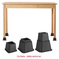 Plastic Non-Slip Furniture Riser Bed Table Desk Sofa Accessories for Home 4Pcs