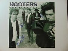 """""""The Hooters"""" Group Signed Album Flat Todd Mueller COA"""