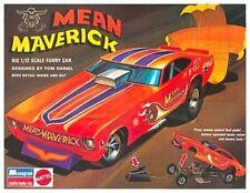Monogram Mean Maverick Funny Car Box Art Bumper Sticker or Fridge Magnet