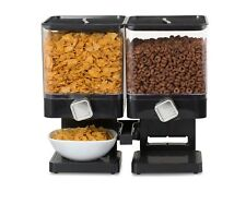 Double Dry Food Cereal Dispenser Pasta Storage Machine Container Snack Nuts UK
