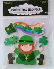 Stickers Retired Finishing Accents 4 x 4 in sheet Leprechaun  B53