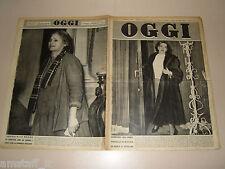 OGGI=1950/5=CHIESA CRISTO FRASCATI=OSTIE SIENA=CARNEVALE VIAREGGIO=FILM PINKY=
