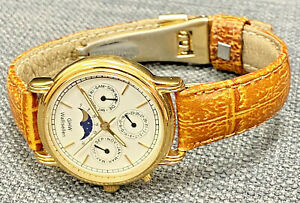 Vintage GHW Wallisellen Mondphasenuhr Armbanduhr Quartz