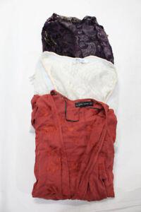 Reverse Zara Cindi Gindi Womens Cardigan Sweater Cover Up White Red OS S M Lot 3