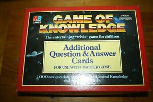 Game of Knowledge Aditional Card Pack  Retro Childrens Trivia Game