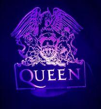 Queen, Freddie Mercury   3D  Acrylic Engraved LED lamp